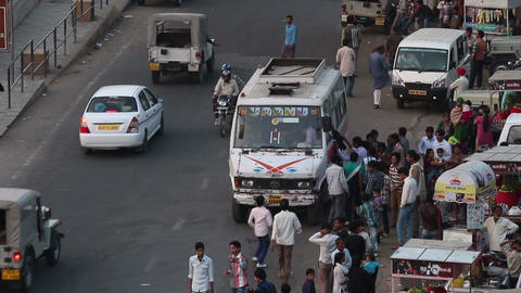 traffic on indian street Stock Video Footage