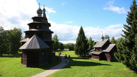Veliky Novgorod - museum of old russian wooden arc Footage