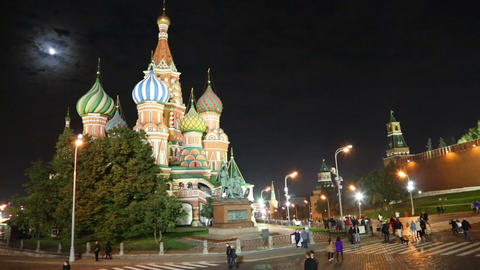 St. Basil Church (Vasiliy Blazhenniy) in Moscow Ru Footage