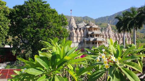 hindu temple ranakpur in rajasthan india Stock Video Footage