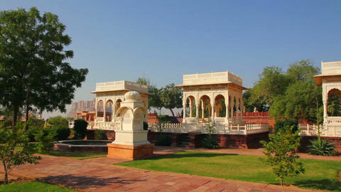 Jaswant Thada mausoleum in Jodhpur India Stock Video Footage