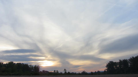 timelapse with sunrise clouds Stock Video Footage