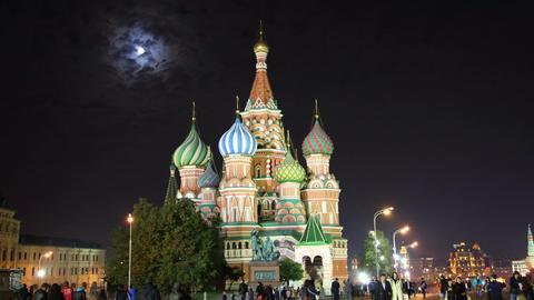 St. Basil Church (Vasiliy Blazhenniy) in Moscow Ru Footage