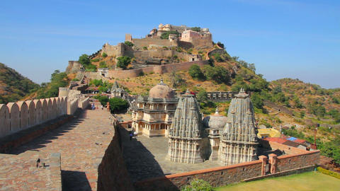 kumbhalgarh fort in rajasthan India Footage