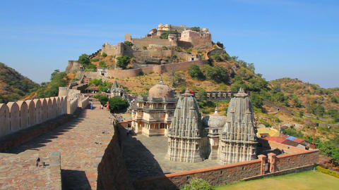 kumbhalgarh fort in rajasthan India Stock Video Footage