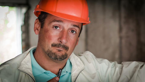 The Engineer-Builder Thinks On The Object. Close-U Stock Video Footage