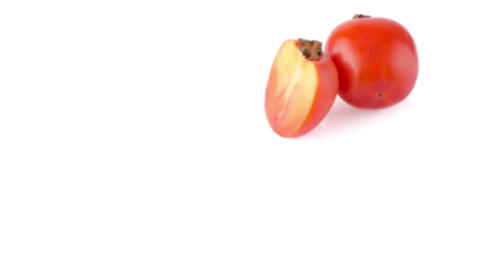 Persimmon with slice Stock Video Footage