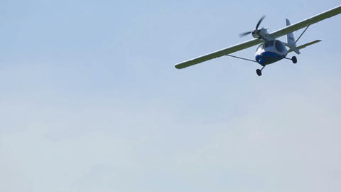Light aircraft Stock Video Footage