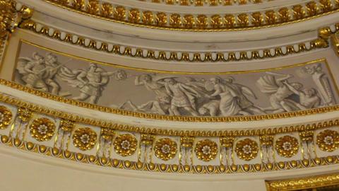palace interior details in Pavlovsk St. Petersburg Stock Video Footage