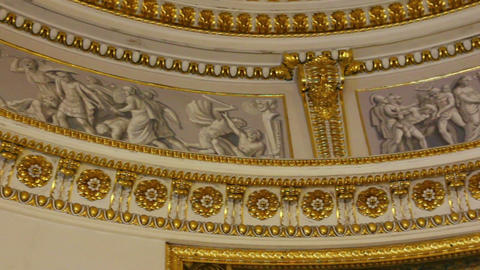 palace interior details in Pavlovsk St. Petersburg Stock Video Footage