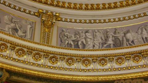 palace interior details in Pavlovsk St. Petersburg Footage