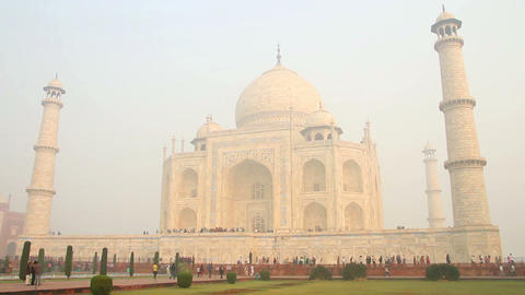 Taj Mahal - famous mausoleum in Agra India Footage
