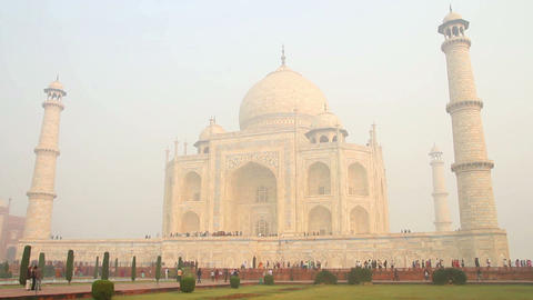 Taj Mahal - famous mausoleum in Agra India Stock Video Footage
