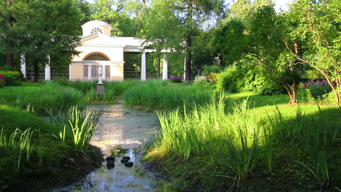 pavilion in Pavlovsk park St. Petersburg Russia Stock Video Footage