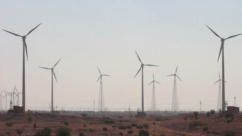 wind farm - turning windmills Footage