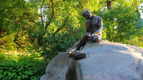 girl with jug statue in Pushkin park St. Petersbur Footage