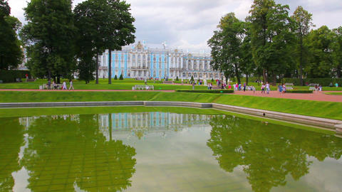 Catherine Palace in Pushkin, St. Petersburg Stock Video Footage