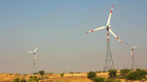 wind farm - turning windmills Stock Video Footage