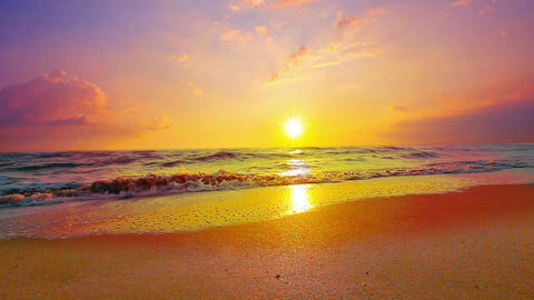 marine sunset Stock Video Footage