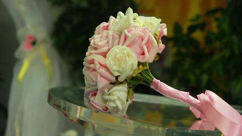 Wedding Flowers stock footage