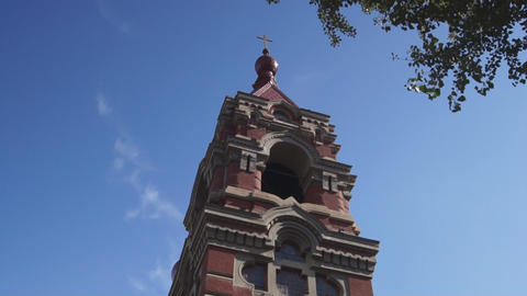 Harbin 06 St Alekseevsky church Stock Video Footage