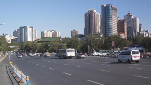 Harbin 09 Jihong Jie traffic Stock Video Footage