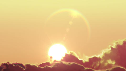 Beautiful Clean Sunrise Time Lapse with Huge Sun Stock Video Footage