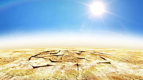 Beautiful animation of Water Drop in Desert gives Stock Video Footage