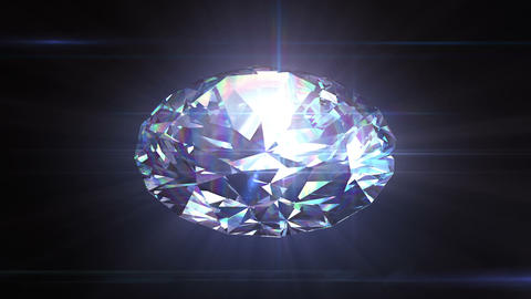 Diamond spinning in seamless animation with alpha Stock Video Footage