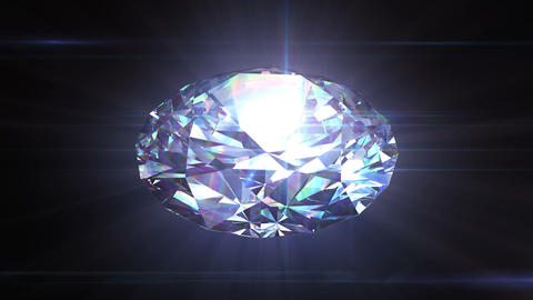 Diamond spinning in seamless animation with alpha  Animation