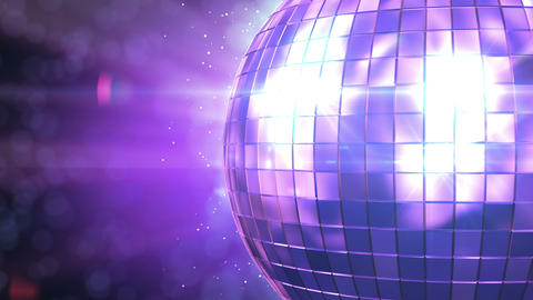 Beautiful Disco Ball Spinning seamless with flares Stock Video Footage