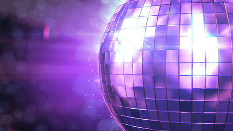 Beautiful Disco Ball Spinning seamless with flares Animation