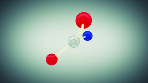 Beautiful Molecule Structure. HD 1080 Stock Video Footage
