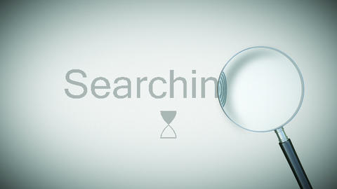 Searching process with Loupe. Loopable animation. Stock Video Footage