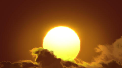 Beautiful Sun and Clouds in Looped animation. HD 1 Stock Video Footage