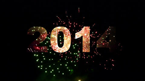 2014 fireworks 02 Stock Video Footage