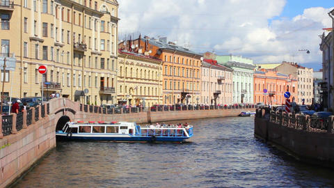 Moika River in St. Petersburg Footage