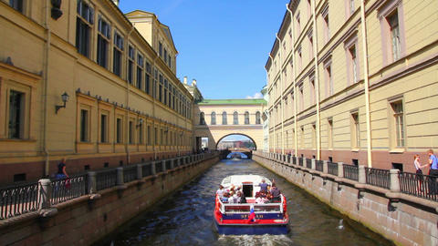 Winter Canal in St. Petersburg Stock Video Footage