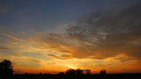 timelapse with beautiful sunset Stock Video Footage