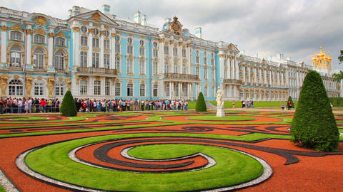 Catherine Palace in Pushkin, St. Petersburg - time Footage