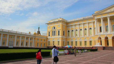 Russian museum in St. Petersburg Russia Stock Video Footage