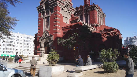 Harbin 07 St Alekseevsky church Stock Video Footage
