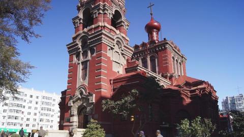 Harbin 07 St Alekseevsky church Footage