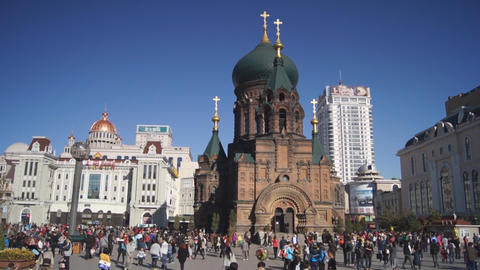Harbin 12 St Sophia church Footage