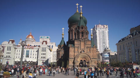 Harbin 12 St Sophia church Stock Video Footage