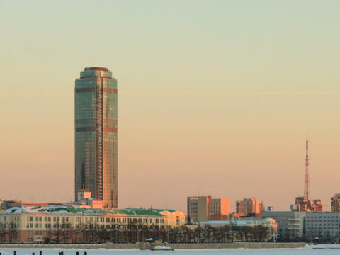 High-rise buildings of the city. Russia, Yekaterin Footage
