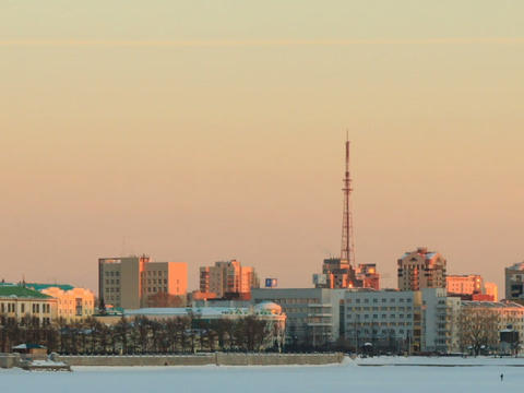 Panorama of the central waterfront. Russia, Yekate Footage