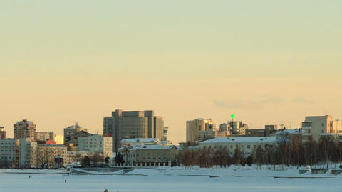 Panorama of the central waterfront. Russia, Yekate Stock Video Footage