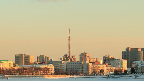 Distance from the tower. Russia, Yekaterinburg Stock Video Footage