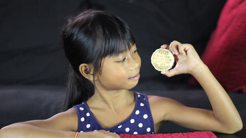Girl With 1932 Olympic Gold Medal Stock Video Footage